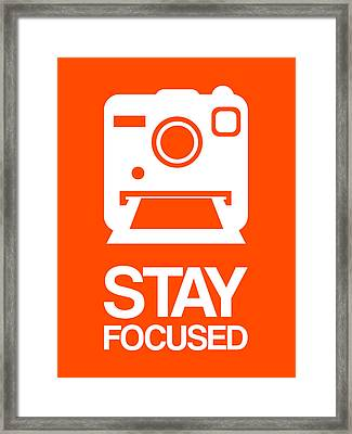 Stay Focused Polaroid Camera Poster 3 Framed Print by Naxart Studio