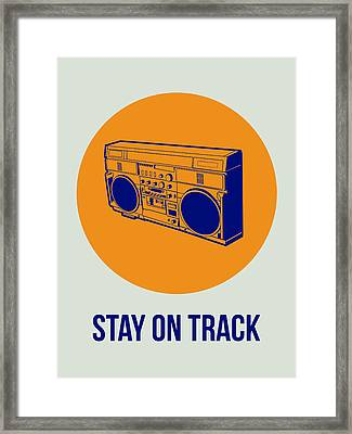 Stay On Track Boombox 1 Framed Print by Naxart Studio