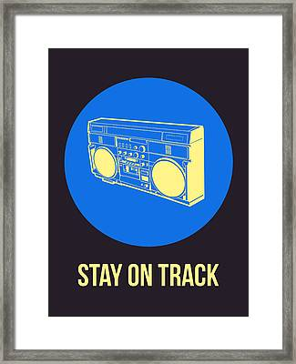 Stay On Track Boombox 2 Framed Print by Naxart Studio