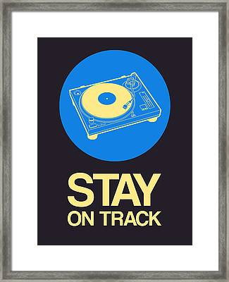 Stay On Track Record Player 2 Framed Print by Naxart Studio