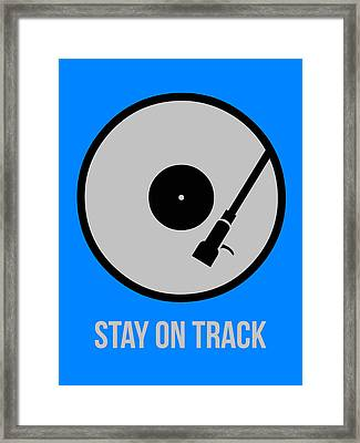 Stay On Track Circle Poster 1 Framed Print by Naxart Studio