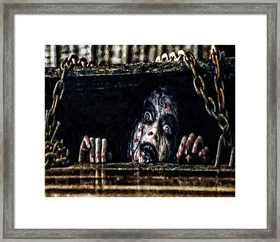 Stay Out Of The Basement Framed Print by Joe Misrasi