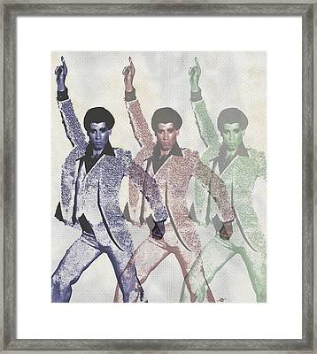 Stayin Alive Pop 4 Framed Print