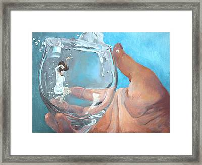 Staying Afloat Framed Print