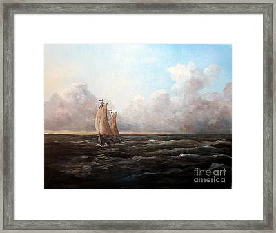 Staying Ahead Of The Weather Framed Print by Lee Piper