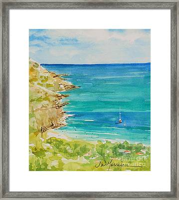 St.barts--the French Island Framed Print