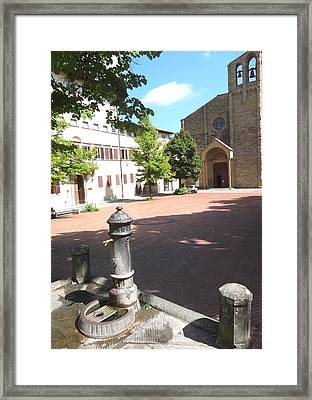 Piazza In Arezzo Framed Print