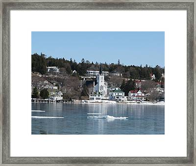 Ste. Anne's Catholic Church On Mackinac Island Framed Print by Keith Stokes