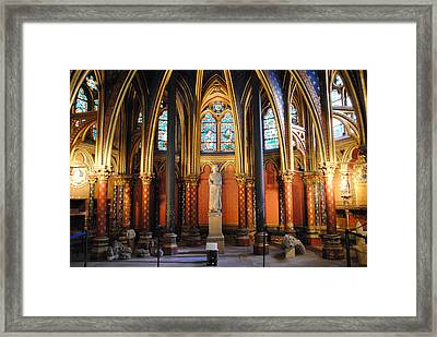 Ste.-chapelle Lower Chapel Framed Print