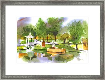 Ste Marie Du Lac In Watercolor II Framed Print