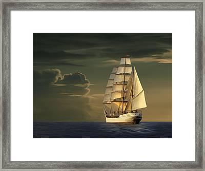 Steadfast Voyage Framed Print by James Charles