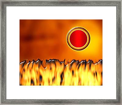 Steady Burn Framed Print by Wendy J St Christopher