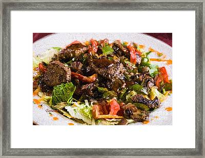 Steak Salad Framed Print