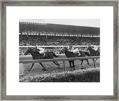Stealaway Horse Racing Vintage Framed Print by Retro Images Archive