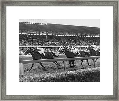 Stealaway Horse Racing Vintage Framed Print