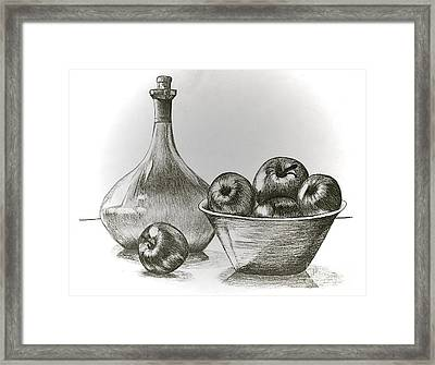 Stealing Of The Orchard Framed Print