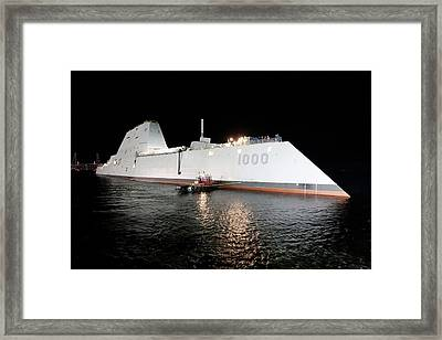 Stealth Guided-missile Destroyer Framed Print by U.s. Navy Courtesy Of General Dynamics