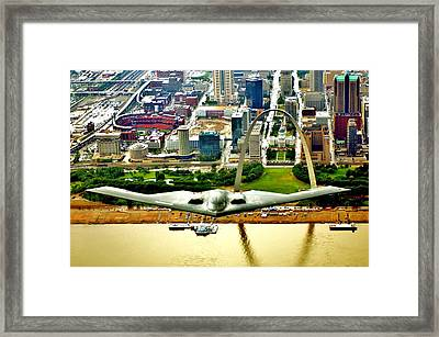 Stealth St Louis Framed Print by Benjamin Yeager