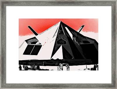 Stealth War Machine Framed Print by Daniel Hagerman