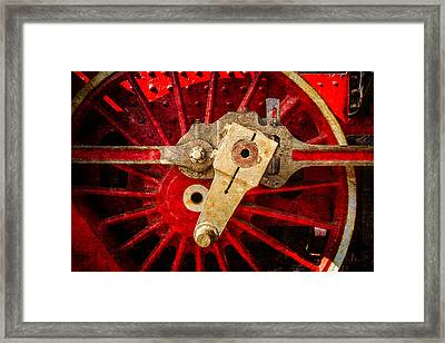Steam And Iron - Driving Wheel Framed Print