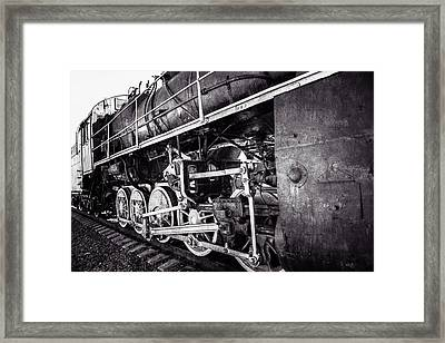 Steam And Iron - Iron Horse - Black And White Framed Print