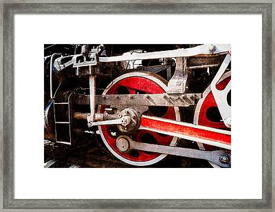 Steam And Iron - Power Drive Framed Print