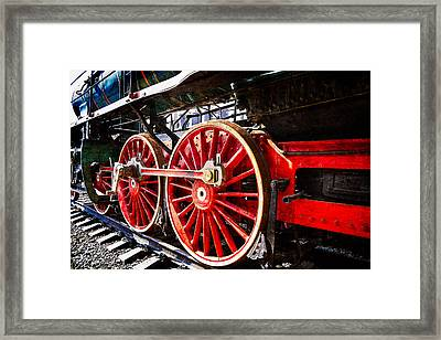 Steam And Iron - Wheels Of Steel Framed Print