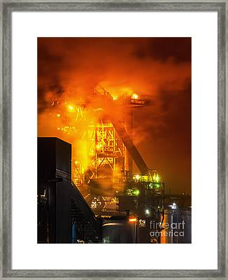 Steam And Light Framed Print by Daniel Heine