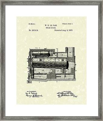 Steam Boiler 1887 Patent Art Framed Print by Prior Art Design