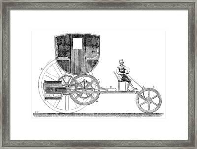 Steam Carriage, 1801 Framed Print