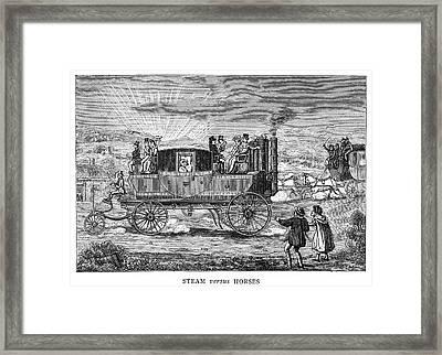 Steam Carriage Framed Print by Granger