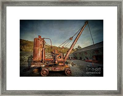 Steam Crane Framed Print by Adrian Evans