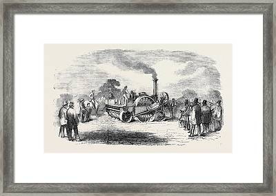 Steam Cultivation Crosskills Romaine Cultivator Framed Print by English School