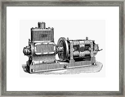 Steam-driven Dynamo Framed Print