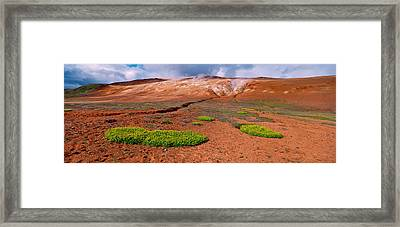 Steam Emitting From The Ground Framed Print