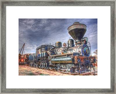 Framed Print featuring the photograph Steam Engine 7 by Katie LaSalle-Lowery