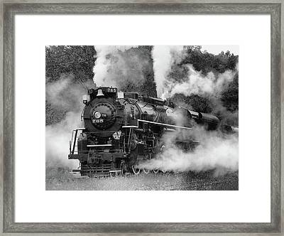 Steam Engine Framed Print by Ann Bridges