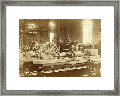 Steam Engine, Built By The Royal Factory Of Steam And Other Framed Print by Artokoloro