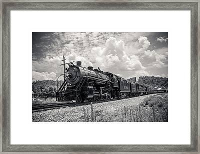 Steam Engine Framed Print by Darrin Doss