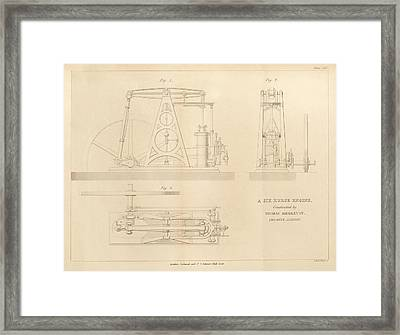 Steam Engine Design Framed Print by King's College London