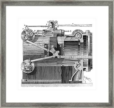 Steam Engine Distributors Framed Print by Science Photo Library