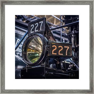 Steam Engine Headlight Framed Print by Paul Freidlund
