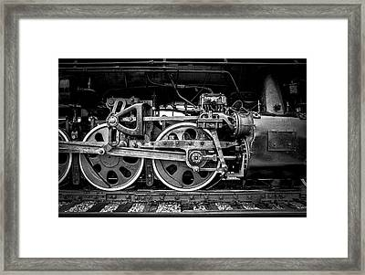 Steam Engine Framed Print by Jeff Burton