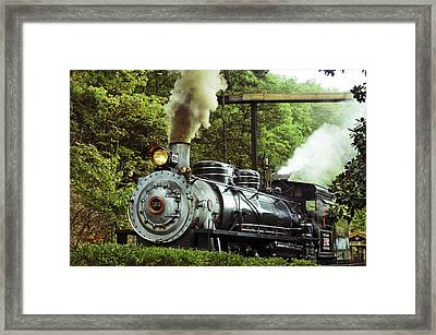 Steam Engine Framed Print by Laurie Perry