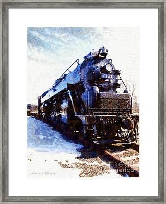 Steam Engine Locomotive 2124 Framed Print by Janine Riley