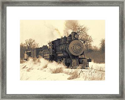 Steam Engine Number Two Framed Print by Robert Kleppin