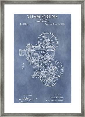 Steam Engine Patent Framed Print
