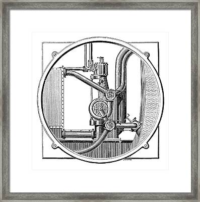 Steam Engine Pump Framed Print by Science Photo Library