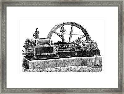 Steam Engine Framed Print by Science Photo Library