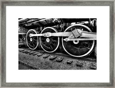 Steam Engine Wheels Framed Print by Honour Hall